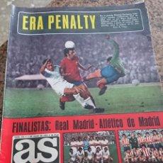 Coleccionismo deportivo: ANTIGUA REVISTA FUTBOL AS COLOR Nº 215 1 DE JULIO 1975 POSTER CENTRAL CICLISTA LUIS OCAÑA. Lote 193072758