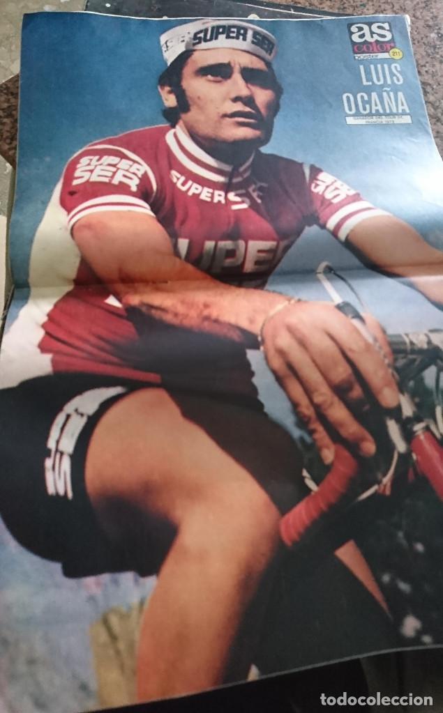 Coleccionismo deportivo: ANTIGUA REVISTA FUTBOL AS COLOR Nº 215 1 DE JULIO 1975 POSTER CENTRAL CICLISTA LUIS OCAÑA - Foto 3 - 193072758
