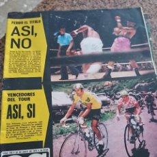 Coleccionismo deportivo: ANTIGUA REVISTA FUTBOL AS COLOR Nº 218 22 DE JULIO 1975 POSTER CENTRAL ATHLETIC DE BILBAO. Lote 193073797