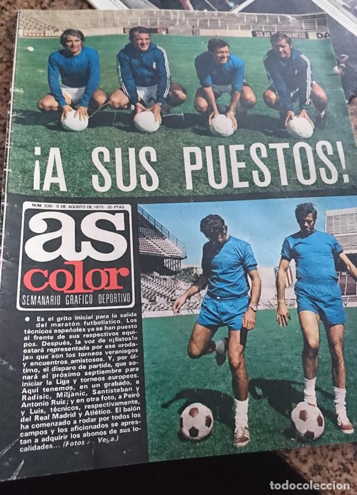 ANTIGUA REVISTA FUTBOL AS COLOR Nº 220 5 DE AGOSTO 1975 POSTER CENTRAL R.C.D. ESPAÑOL (Coleccionismo Deportivo - Revistas y Periódicos - As)