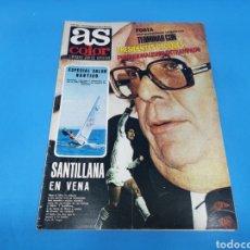 Coleccionismo deportivo: REVISTA AS COLOR NUM. 403 SANTILLANA EN VENA. PÓSTER LAS PALMAS. Lote 217664337