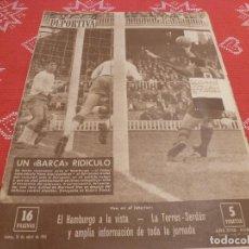 Coleccionismo deportivo: (LLL)VIDA DEPORTIVA Nº:813(10-4-61)BARÇA 0 ZARAGOZA 1,PROXIMO BARÇA-HAMBURGO COPA EUROPA. Lote 193296226