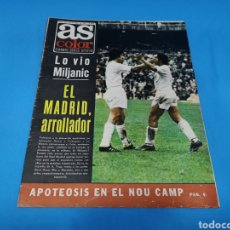 Coleccionismo deportivo: REVISTA AS COLOR NUM. 153 EL MADRID, ARROLLADOR, APOTEOSIS EN EL NOU CAMP. Lote 193558186