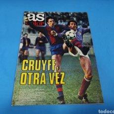 Coleccionismo deportivo: REVISTA AS COLOR NUM. 511. CRUYFF, OTRA VEZ. PÓSTER CENTRAL DE ROBERTO CASTAÑÓN. Lote 193677006