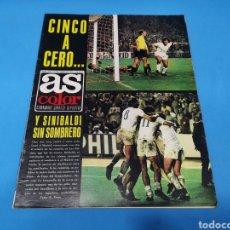 Coleccionismo deportivo: REVISTA AS COLOR NUM. 213. CINCO A CERO... PÓSTER CENTRAL REAL OVIEDO. Lote 193683256