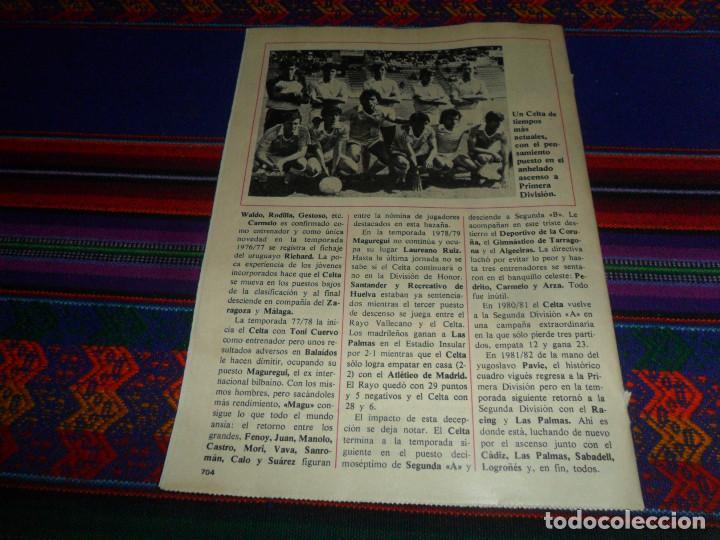 Coleccionismo deportivo: DON BALÓN, HISTORIA DEL FÚTBOL ESPAÑOL CAPÍTULO 38, R.C. CELTA DE VIGO. 1982 1983. - Foto 7 - 193695746