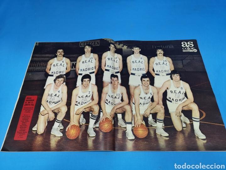 Coleccionismo deportivo: Revista AS COLOR NUM. 207. FESTEJANDO EL TÍTULO. PÓSTER CENTRAL REAL MADRID DE BALONCESTO - Foto 2 - 193902316