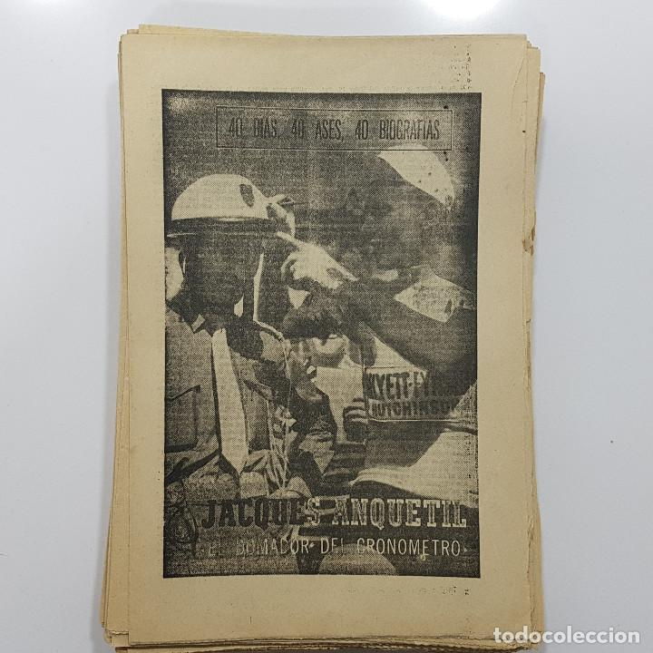 Coleccionismo deportivo: LOTE 50 números años 1963 y 1964 de: 40 DÍAS 40 ASES 40 BIOGRAFÍAS (Marca) intonsos - Foto 4 - 193906457