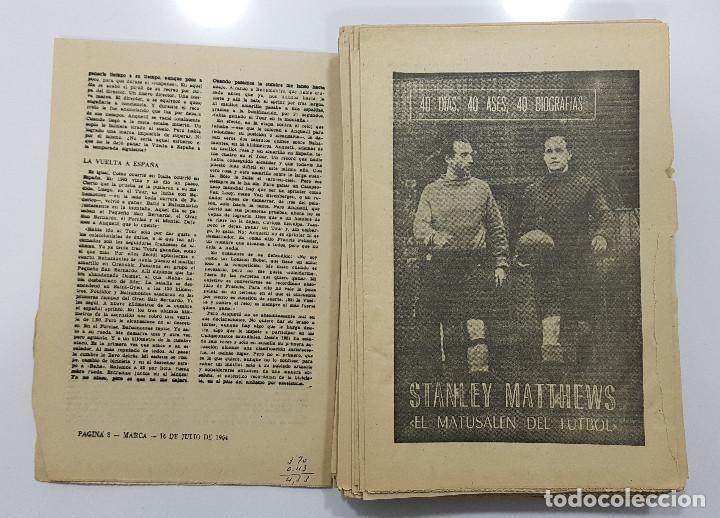 Coleccionismo deportivo: LOTE 50 números años 1963 y 1964 de: 40 DÍAS 40 ASES 40 BIOGRAFÍAS (Marca) intonsos - Foto 7 - 193906457