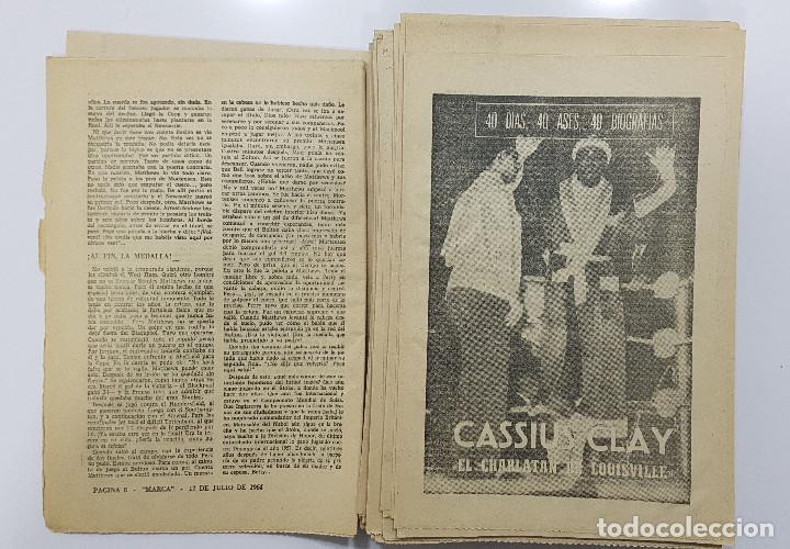Coleccionismo deportivo: LOTE 50 números años 1963 y 1964 de: 40 DÍAS 40 ASES 40 BIOGRAFÍAS (Marca) intonsos - Foto 8 - 193906457