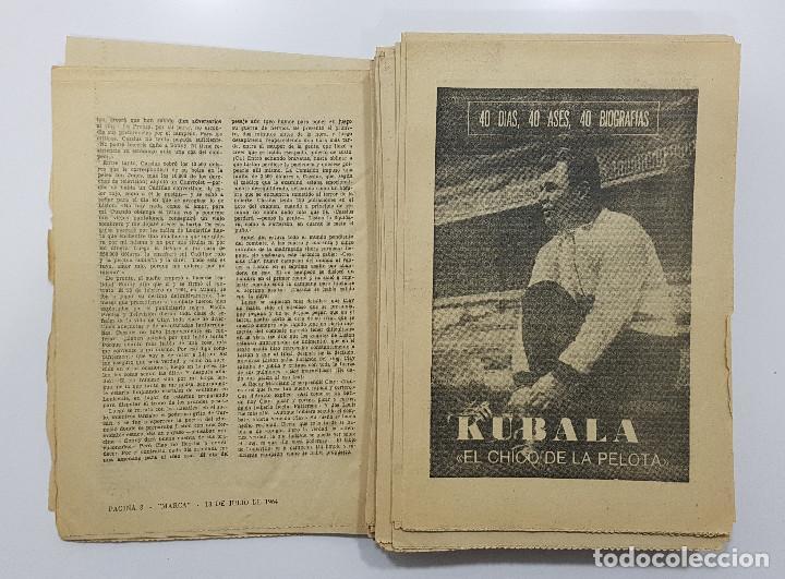 Coleccionismo deportivo: LOTE 50 números años 1963 y 1964 de: 40 DÍAS 40 ASES 40 BIOGRAFÍAS (Marca) intonsos - Foto 9 - 193906457