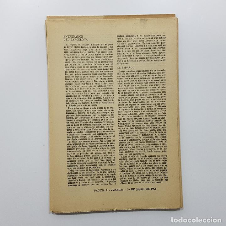 Coleccionismo deportivo: LOTE 50 números años 1963 y 1964 de: 40 DÍAS 40 ASES 40 BIOGRAFÍAS (Marca) intonsos - Foto 14 - 193906457