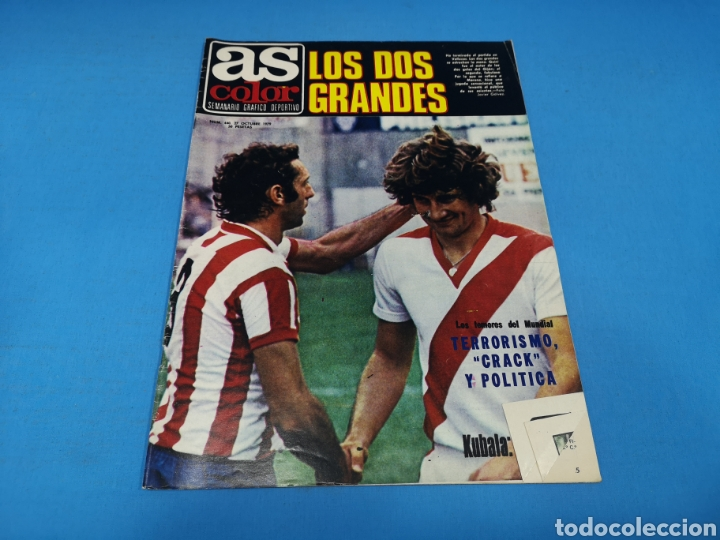 REVISTA AS COLOR NUM. 440. LOS DOS GRANDES. PÓSTER CENTRAL DE YANNICK NOAH (Coleccionismo Deportivo - Revistas y Periódicos - As)