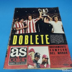 Coleccionismo deportivo: REVISTA AS COLOR NUM. 216. DOBLETE. ÁNGEL NIETO CAMPEÓN DEL MUNDO. PÓSTER CENTRAL SEVILLA C. F.. Lote 193907772