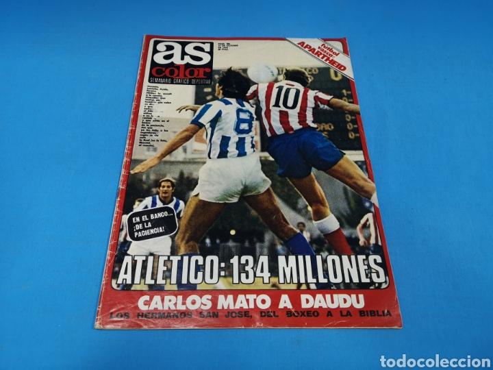 REVISTA AS COLOR NUM. 386. ATLÉTICO; 134 MILLONES (Coleccionismo Deportivo - Revistas y Periódicos - As)
