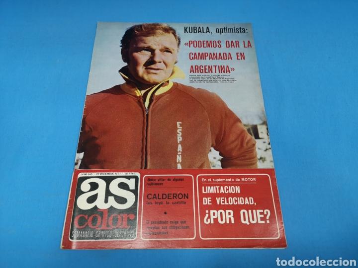 REVISTA AS COLOR NUM. 345. KUBALA, OPTIMISTA: PODEMOS DAR LA CAMPANADA EN ARGENTINA. PÓSTER RAYO VAL (Coleccionismo Deportivo - Revistas y Periódicos - As)