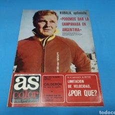 Coleccionismo deportivo: REVISTA AS COLOR NUM. 345. KUBALA, OPTIMISTA: PODEMOS DAR LA CAMPANADA EN ARGENTINA. PÓSTER RAYO VAL. Lote 193990518