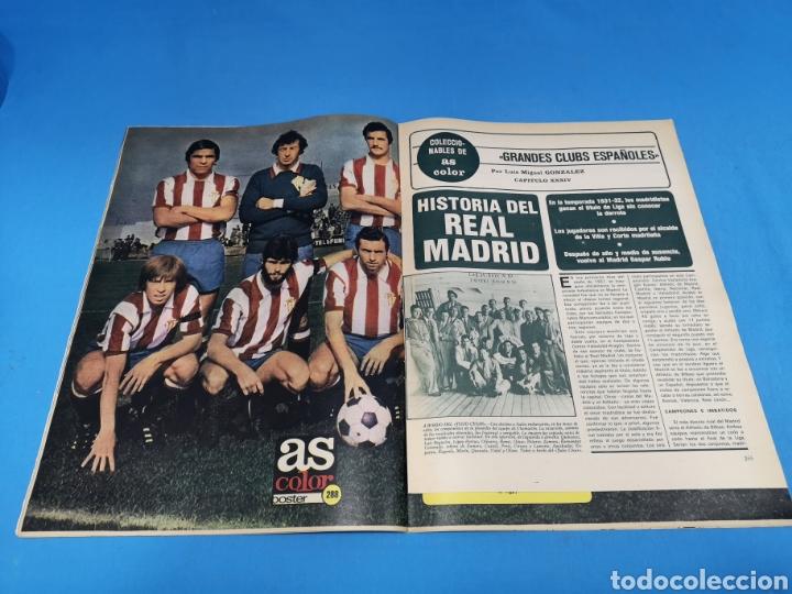 Coleccionismo deportivo: Revista AS COLOR NUM. 294. ATLÉTICO 4, MADRID 0. UNA PALIZA. PÓSTER SPORTING DE GIJÓN - Foto 2 - 193990841