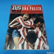 Coleccionismo deportivo: REVISTA AS COLOR NUM. 294. ATLÉTICO 4, MADRID 0. UNA PALIZA. PÓSTER SPORTING DE GIJÓN. Lote 193990841