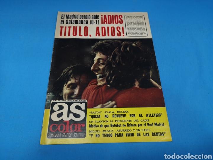 REVISTA AS COLOR NUM. 296. ¡ADIÓS TÍTULO, ADIÓS! PÓSTER CENTRAL CLARES FC BARCELONA (Coleccionismo Deportivo - Revistas y Periódicos - As)