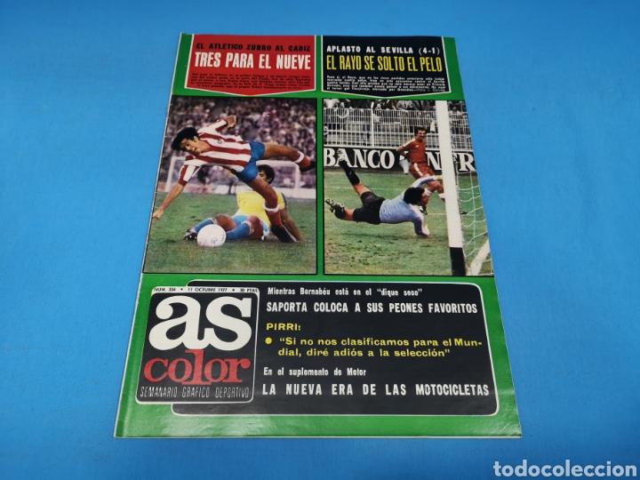REVISTA AS COLOR NUM. 334. TRES PARA EL NUEVE. EL RAYO SE SOLTÓ EL PELO (Coleccionismo Deportivo - Revistas y Periódicos - As)