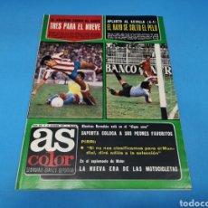 Coleccionismo deportivo: REVISTA AS COLOR NUM. 334. TRES PARA EL NUEVE. EL RAYO SE SOLTÓ EL PELO. Lote 193992445