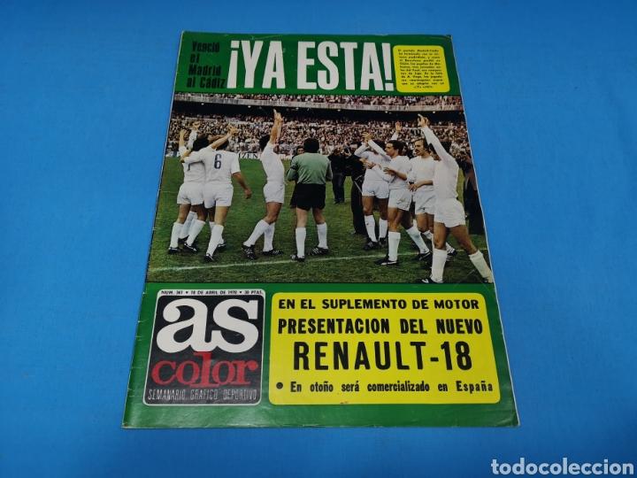 REVISTA AS COLOR NUM. 361. ¡YA ESTÁ! PÓSTER CENTRAL REAL MADRID DE BALONCESTO, CAMPEÓN DE EUROPA (Coleccionismo Deportivo - Revistas y Periódicos - As)