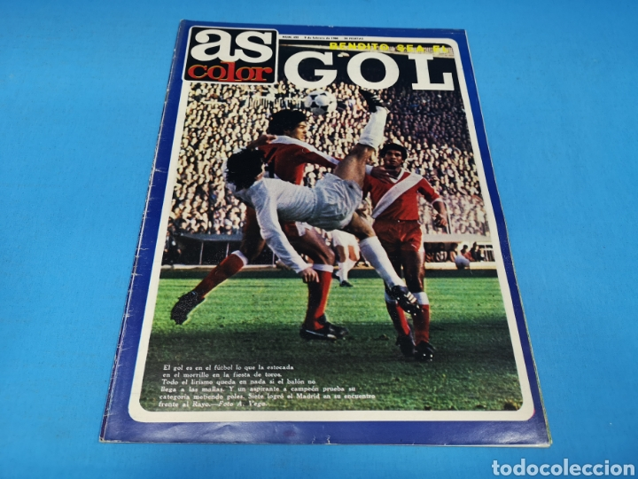 REVISTA AS COLOR NUM. 455. BENDITO SEA EL GOL. PÓSTER CENTRAL DE ROBERTO DINAMITA, FC BARCELONA (Coleccionismo Deportivo - Revistas y Periódicos - As)