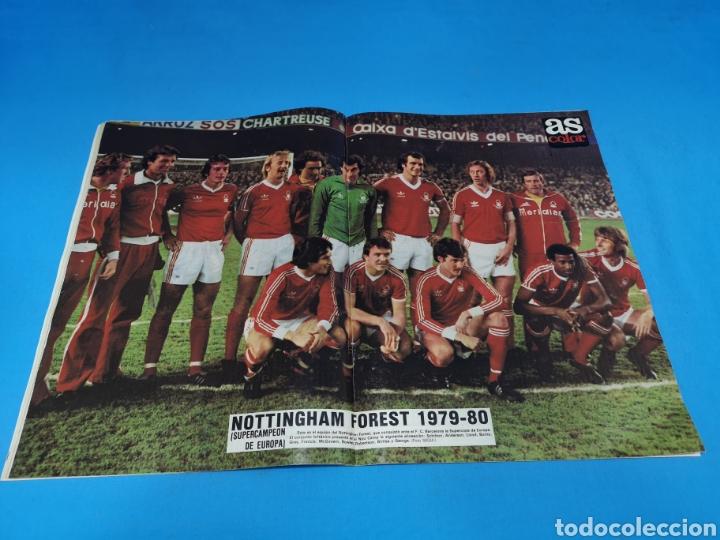 Coleccionismo deportivo: Revista AS COLOR NUM. 459. ENEMIGO PEQUEÑO. PÓSTER CENTRAL NOTTINGHAM FOREST 1979-80 SUPERCAMPEON EU - Foto 2 - 193994555