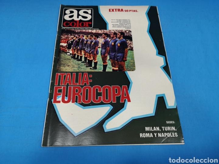 REVISTA AS COLOR NUM. 472. ITALIA: EUROCOPA. PÓSTER SELECCIÓN ESPAÑOLA FÚTBOL CAMPEÓN EUROCOPA 1964 (Coleccionismo Deportivo - Revistas y Periódicos - As)