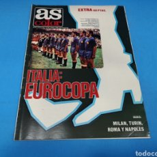 Coleccionismo deportivo: REVISTA AS COLOR NUM. 472. ITALIA: EUROCOPA. PÓSTER SELECCIÓN ESPAÑOLA FÚTBOL CAMPEÓN EUROCOPA 1964. Lote 193995408