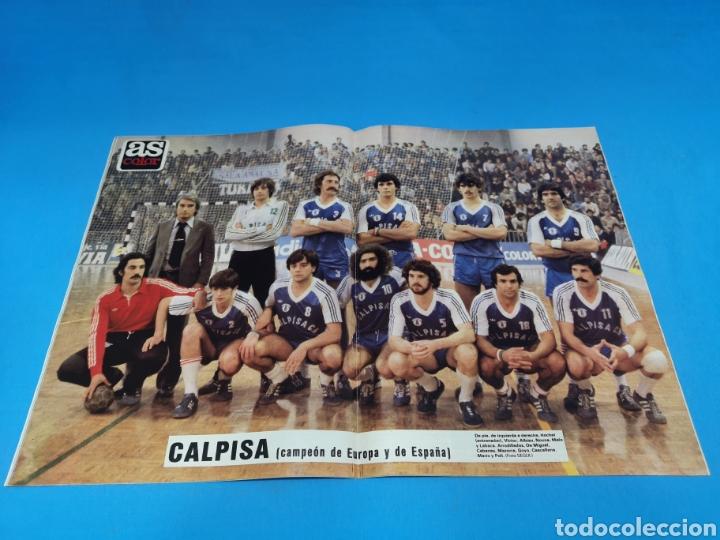 Coleccionismo deportivo: Revista AS COLOR NUM. 468. DULCE. PÓSTER DEL CALPISA, CAMPEÓN DE ESPAÑA Y DE EUROPA DE BALONMANO - Foto 2 - 193996867