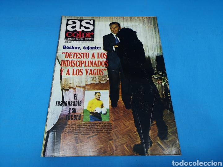 REVISTA AS COLOR NUM. 438. DETESTO A LOS INDISCIPLINADOS Y A LOS VAGOS. PÓSTER RAYO VALLECANO (Coleccionismo Deportivo - Revistas y Periódicos - As)