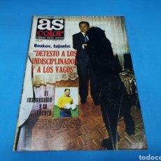 Coleccionismo deportivo: REVISTA AS COLOR NUM. 438. DETESTO A LOS INDISCIPLINADOS Y A LOS VAGOS. PÓSTER RAYO VALLECANO. Lote 193998231
