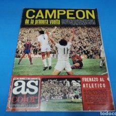 Coleccionismo deportivo: REVISTA AS COLOR NUM. 190. CAMPEÓN DE LA PRIMERA VUELTA. PÓSTER DEL REAL OVIEDO. Lote 194000021