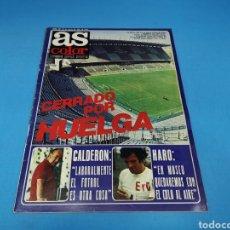 Coleccionismo deportivo: REVISTA AS COLOR NUM. 407. CERRADO POR HUELGA. PÁGINAS CENTRALES KEVIN KEEGAN. Lote 194000740