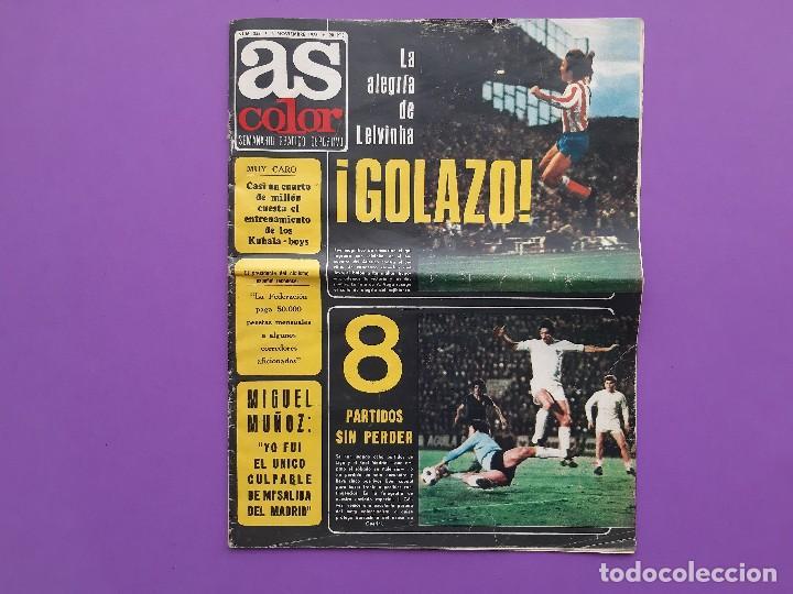 ANTIGUA REVISTA FUTBOL AS COLOR Nº 233 4 DE NOVIEMBRE 1975 POSTER CENTRAL U.D. SALAMANCA (Coleccionismo Deportivo - Revistas y Periódicos - As)