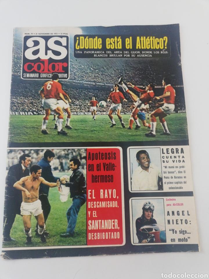 REVISTA AS COLOR NUMERO 79 NOVIEMBRE 1972 POSTER 76 RCD ESPAÑOL ESPANYOL 1972-73. (Coleccionismo Deportivo - Revistas y Periódicos - As)