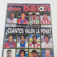 Coleccionismo deportivo: REVISTA DON BALON NUMERO 1163 ENERO FEBRERO 1998 POSTER RACING SANTANDER VER SUMARIO.. Lote 194074651