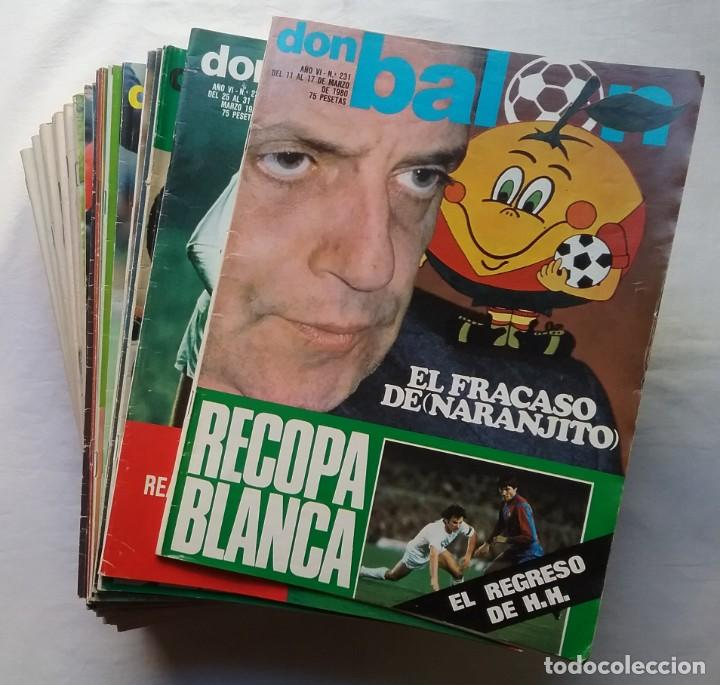 FÚTBOL REVISTA DON BALÓN LOTE 51 VER LISTADO (Coleccionismo Deportivo - Revistas y Periódicos - Don Balón)