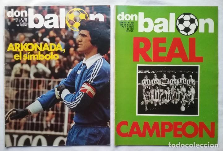 Coleccionismo deportivo: FÚTBOL REVISTA DON BALÓN LOTE 51 VER LISTADO - Foto 2 - 194130363