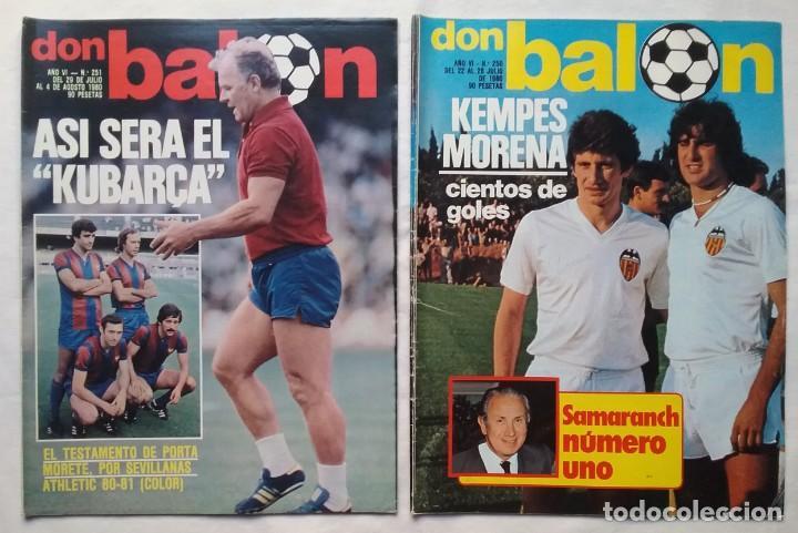 Coleccionismo deportivo: FÚTBOL REVISTA DON BALÓN LOTE 51 VER LISTADO - Foto 9 - 194130363