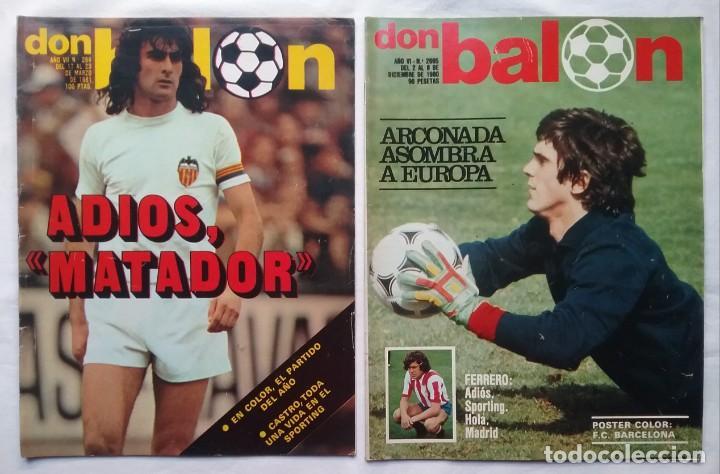 Coleccionismo deportivo: FÚTBOL REVISTA DON BALÓN LOTE 51 VER LISTADO - Foto 10 - 194130363