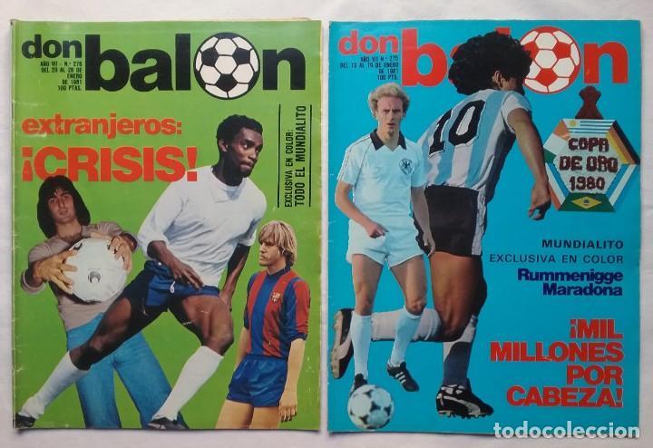 Coleccionismo deportivo: FÚTBOL REVISTA DON BALÓN LOTE 51 VER LISTADO - Foto 11 - 194130363