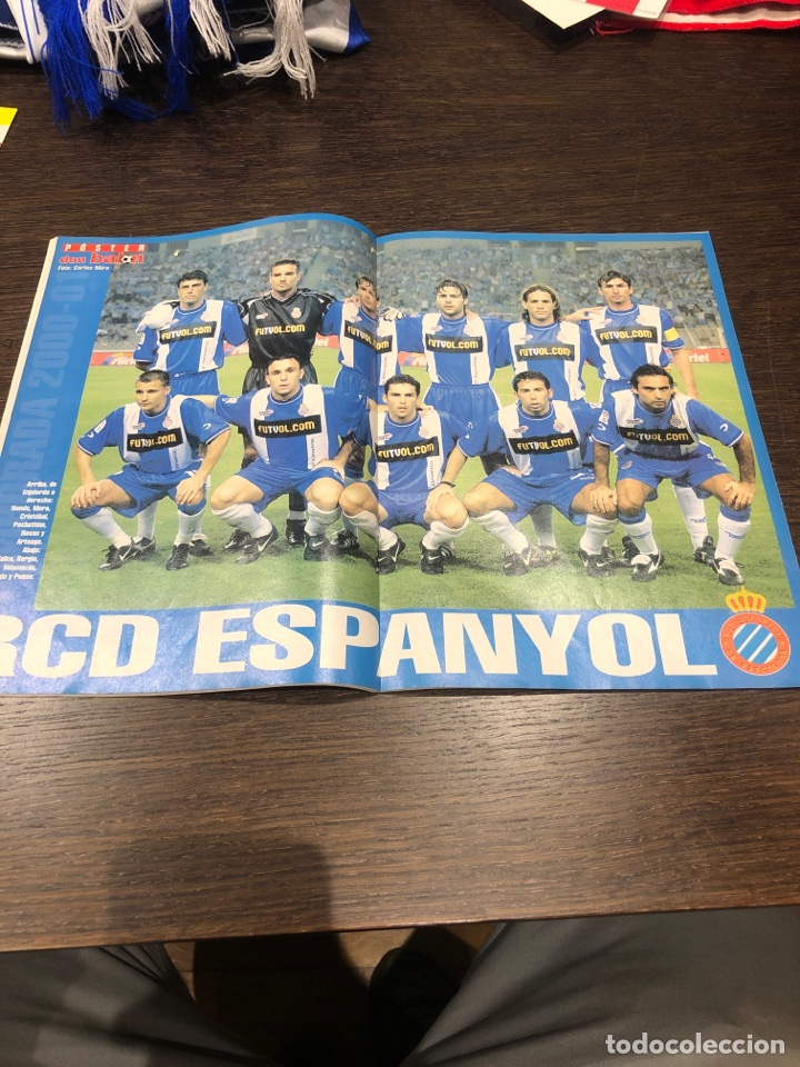 Coleccionismo deportivo: Revista don balón núm 1300 sept del 2000 poster RCDE - Foto 2 - 194143647
