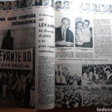 Coleccionismo deportivo: ASCENSO DEL LEVANTE A PRIMERA DIVISION . AÑO 1963 . 2 PAGINAS .. Lote 194162520