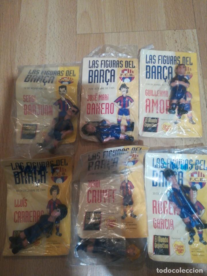 7 FIGURAS DE FUTBOLISTAS DEL BARCA TEMPORADA 95/96 (Coleccionismo Deportivo - Revistas y Periódicos - Mundo Deportivo)