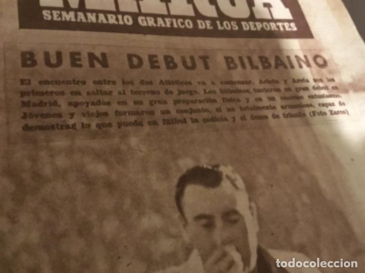 Coleccionismo deportivo: Antiguo periódico marca Athletic club de Bilbao 1954 gran Premio motociclismo España - Foto 3 - 194239247