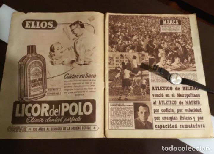 Coleccionismo deportivo: Antiguo periódico marca Athletic club de Bilbao 1954 gran Premio motociclismo España - Foto 4 - 194239247