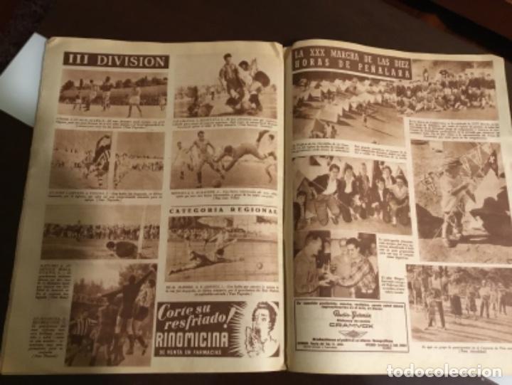 Coleccionismo deportivo: Antiguo periódico marca Athletic club de Bilbao 1954 gran Premio motociclismo España - Foto 6 - 194239247